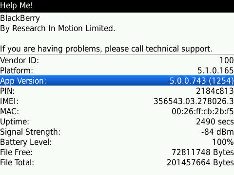 Official: OS 5 0 0 743 for the BlackBerry Bold 9700